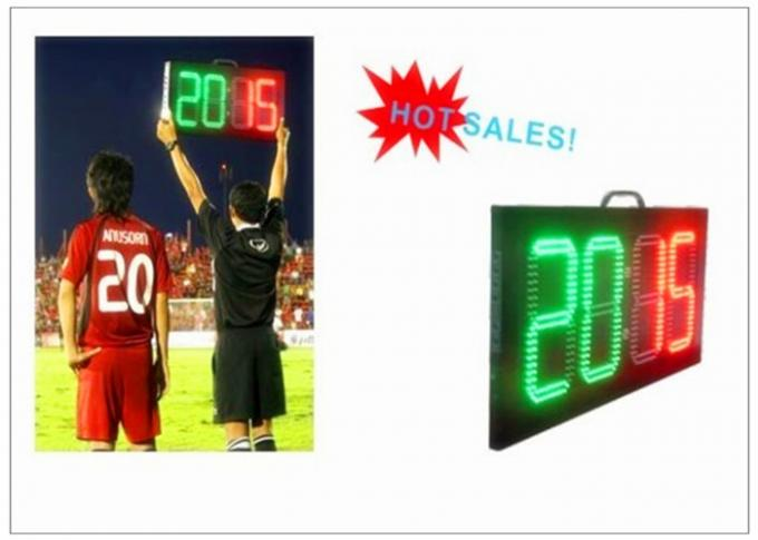 Football Stadium LED Screens Digital Number LED Soccer Substitution Board 2 Color 2 Side