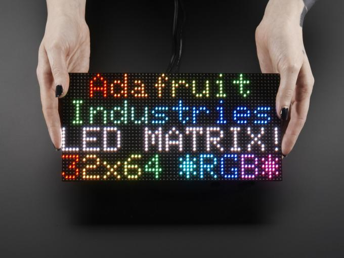 64 X 32 Dots P3 LED Display Module Indoor Advertising Board DC5V