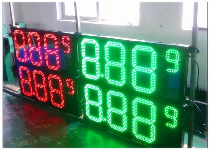 Wireless Remote Control Gas Station LED Signs 4 Digits Number Display With 110° Viewing Angle