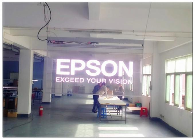 High Brightness Transparent LED Display for Glass Wall , Advertising LED Transparent Screen