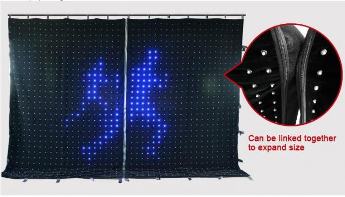 DMX RGB Soft Flexible LED Curtain for Portable Backdrops Stage Decoration