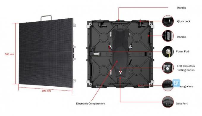P3.91 P4.81 P5.2 500 X 500mm Outdoor Screen Hire High Definition