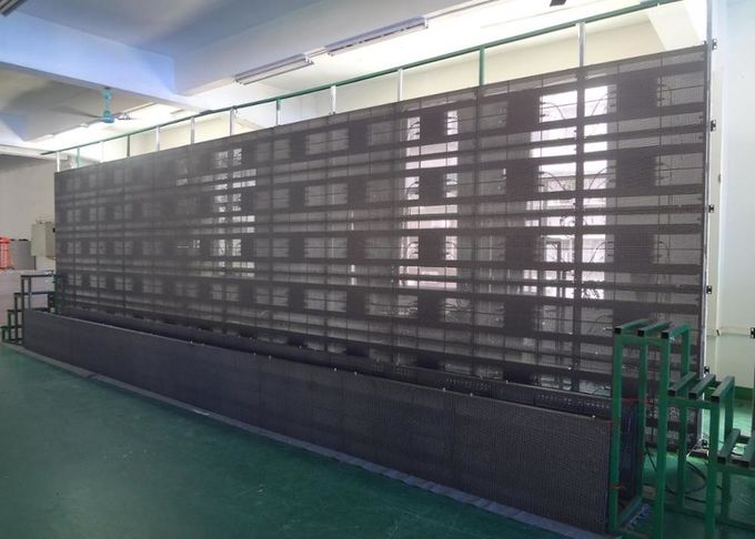 Glass Wall Transparent Led Display Ip65 160 Degree With 3 X 8mm Pixel