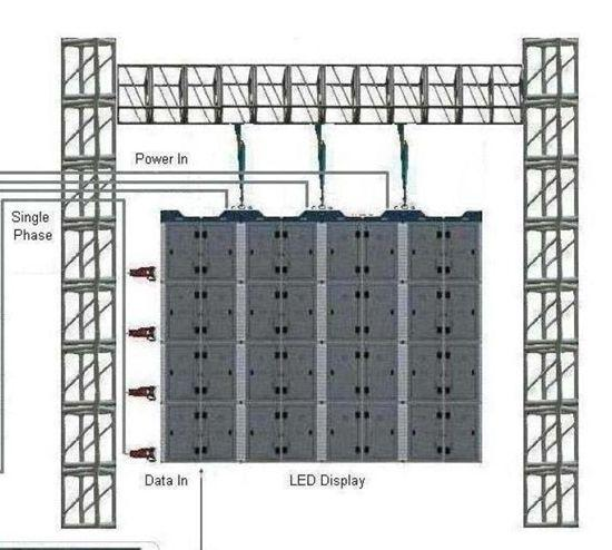 high definition indoor led display board p4 energy saving  hanging led display for location shooting
