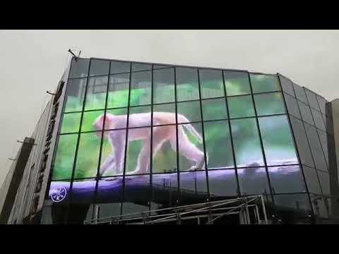 CE 16mm Pitch Pixel  Advertising Transparent LED Display Electronic Display Board