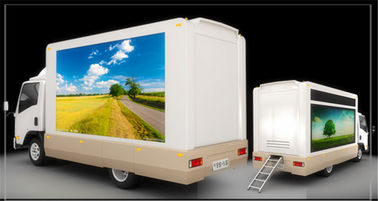 China Full Color Mobile LED Truck Advertising , Truck Mounted LED Screen With Multi Media Control supplier