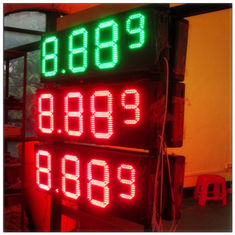 Multiple Size LED Gas Station Signs With Rear / Front Access , Single / Double Side