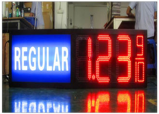 12 Inches Time / Temperature / Date LED Gas Station Price Signs Waterproof