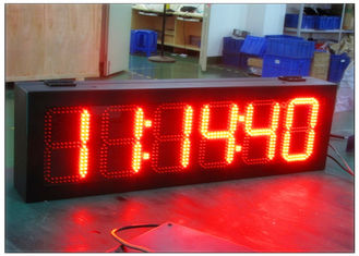 China High Brightness 7 Segment Gas Station LED Signs , LED Time And Temperature Sign supplier