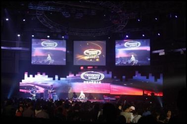 China Customized 5m X 3m Concert Stage Background LED Display Screen Hire Full Color supplier