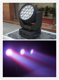 4 In1 Color Led Beam Moving Head Light 19 Piece 10W RGBW With Wash Effect