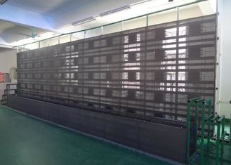 Glass Wall Transparent Led Display Ip65 160 Degree 30000 Dots / Sqm With 3X8mm Pixel