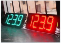 High Brightness 7 Segment Gas Station LED Signs , LED Time And Temperature Sign