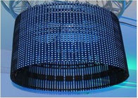 Fiber Optic Curtain OEM Flexible Led Curtain Screen With 4096Dots / M² Pixel Density Synchronization Control