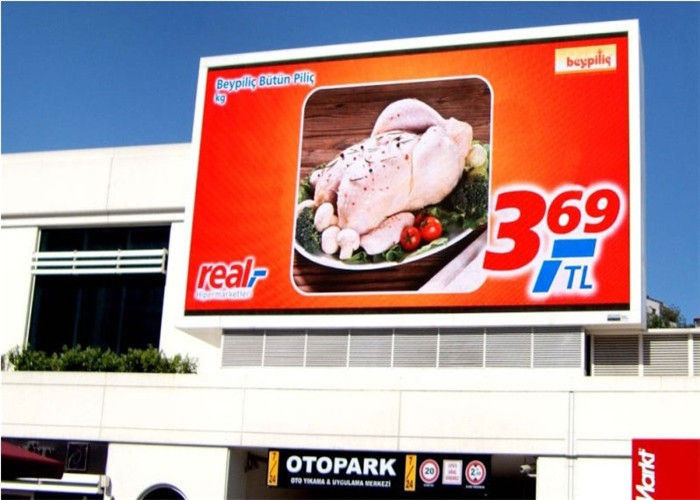 Full Color Front Service LED Display RGB Weather Resistant HD For Advertising