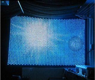 China LED Star Cloth Curtain DMX RGB Soft Flexible LED Curtain Display For Stage Decoration factory