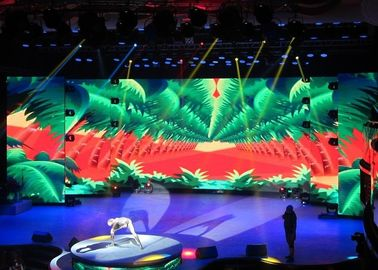 China Advertising Display LED Video Wall Panels 3.91mm Aluminium Panel For Stage Rental factory