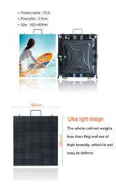China P2.5mm Indoor LED Advertising Screen Video Wall HD High Resolution For Hire factory